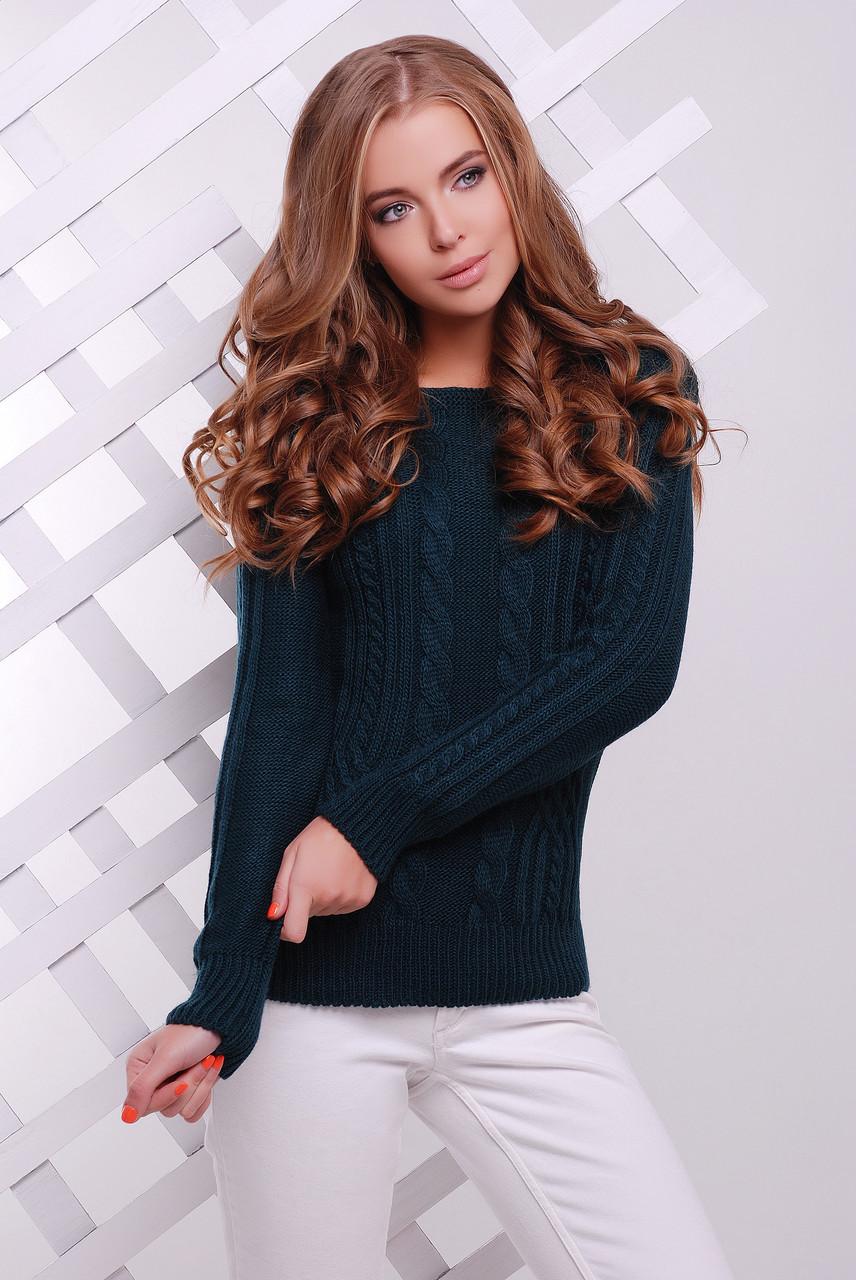 Зручний однотонний светр прямого силуету з якісної м'якої пряжі