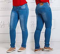 Женские летние стильные джинсы до больших размеров 004