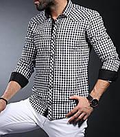 Стильная рубашка для мужчин в клетку