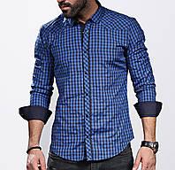 Стильная рубашка для мужчин в клетку, фото 1