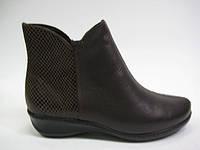 Кожаные ботинки коричневого цвета ТМ Inblu, фото 1