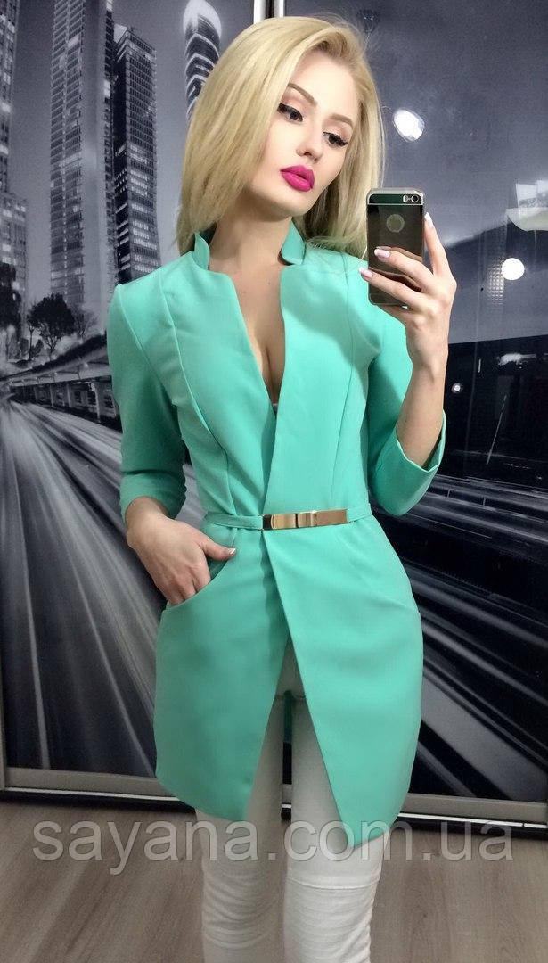 Женский удлиненный пиджак в расцветках. ЮЛ-28-0817