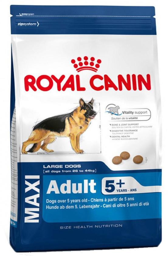 Корм для собак крупных пород возрастом 5-8 лет Royal Canin Maxi Adult 5+ 15 кг - Зоомагазин в Киеве