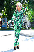 """Женский костюм с поясом """"Зеленые Листья"""""""