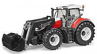 Трактор Steyr 6300 Terrus с погрузчиком красно-белый М1:16 Bruder (03181), фото 1