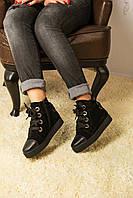 Женские ботинки Б-16/1 на платформе из замши