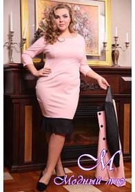 Женское розовое платье больших размеров (р. 48-90) арт. Марика