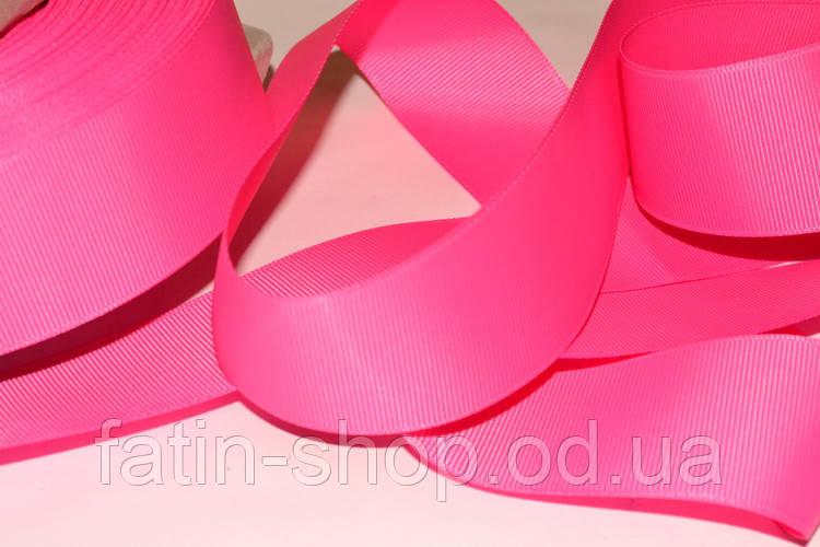 Репсовая лента цв.Shoking Pink