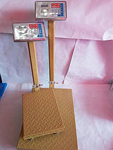 Торговые весы с усиленной платформой до 600 кг со стойкой электронные 45х60 см , фото 3