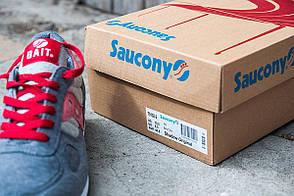 Мужские кроссовки Bait X Saucony Shadow  топ реплика, фото 3