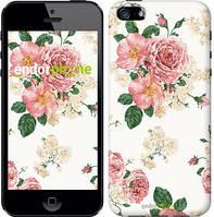 "Чехол на iPhone 5s цветочные обои v1 ""2293c-21"""