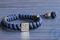 Браслет из паракорда Алатырь Navy Blue