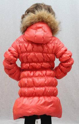Пальто зимнее для девочки с мехом, фото 2