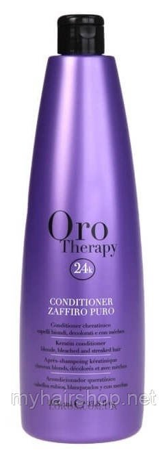 Кондиционер сапфировый с кератином FANOLA Oro Therapy Keratin Conditioner for blonde hair with sapphire1000 мл