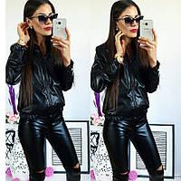 """Женская стильная кожаная куртка 393-1 """"Кожа Стойка"""""""