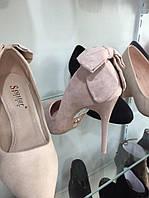 Женские туфли на шпильке из искусственной замши оптом