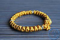 Вервица. Православные четки-браслет 30 узелков золотые