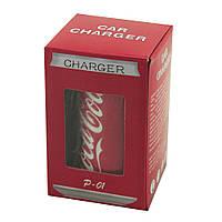 Автомобильное зарядное устройство  Coca Cola P-01