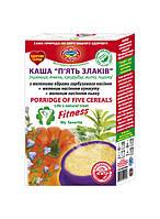 """Каша """"5 злаков"""" (пшеница,пшено,ячмень,кукуруза,рожь) с молотыми семенами тыквы,кунжута,льна,мгновенного пригот"""