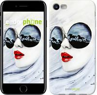 "Чехол на iPhone 7 Девушка акварелью ""2829c-336"""