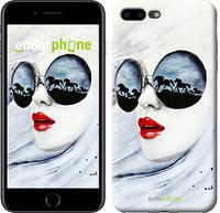 """Чехол на iPhone 7 Plus Девушка акварелью """"2829c-337"""""""