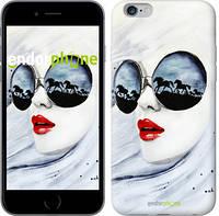 """Чехол на iPhone 6 Plus Девушка акварелью """"2829c-48"""""""