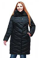 Удлиненное пальто с отстегивающимся мехом мутона