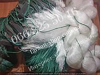 Сеть рыболовная 100х3м, (ячейка 80,90,100) с вшитыми грузиками, для промышленного лова