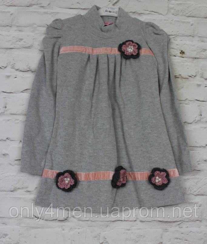 Платье трикотажное для девочки 4-11 лет