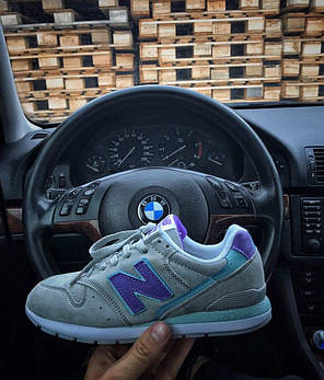 Женские кроссовки New Balance 996 серые топ реплика, фото 2