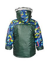 Куртка для мальчика с разноцветными рукавами, фото 3