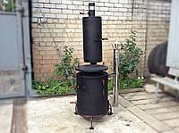 Печь для казана со съемной коптильней , фото 1