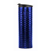 Термокружка 0,45 л, Нержавеющая сталь синяя (термочашка BPA Free)