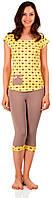Бавовняна жіноча піжама (футболка і бриджі) 0140/124, фото 1