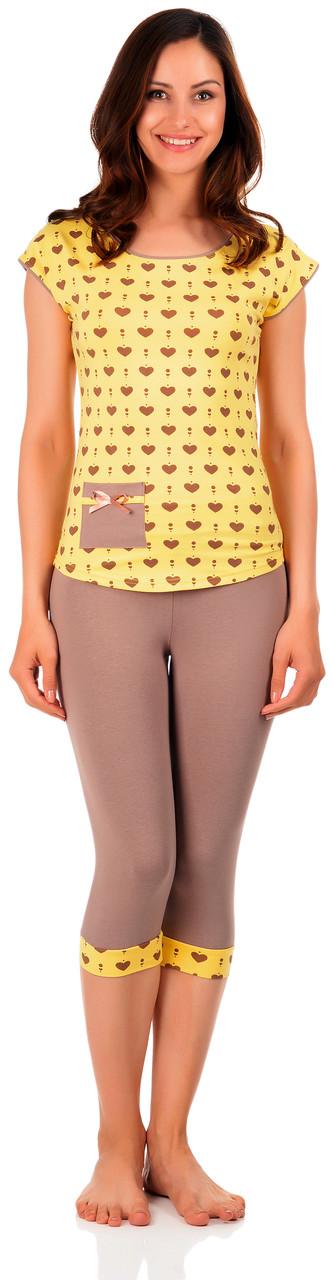 Бавовняна жіноча піжама (футболка і бриджі) 0140/124