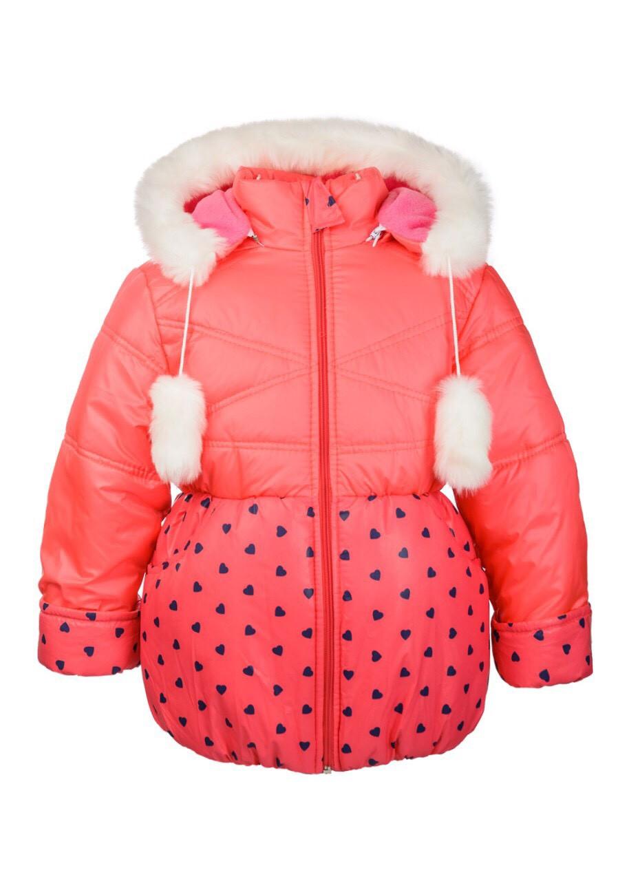 Курточка зимняя для маленьких девочек