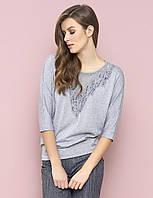 Женская кофта серого цвета Izabela Zaps, коллекция осень-зима 2017-2018
