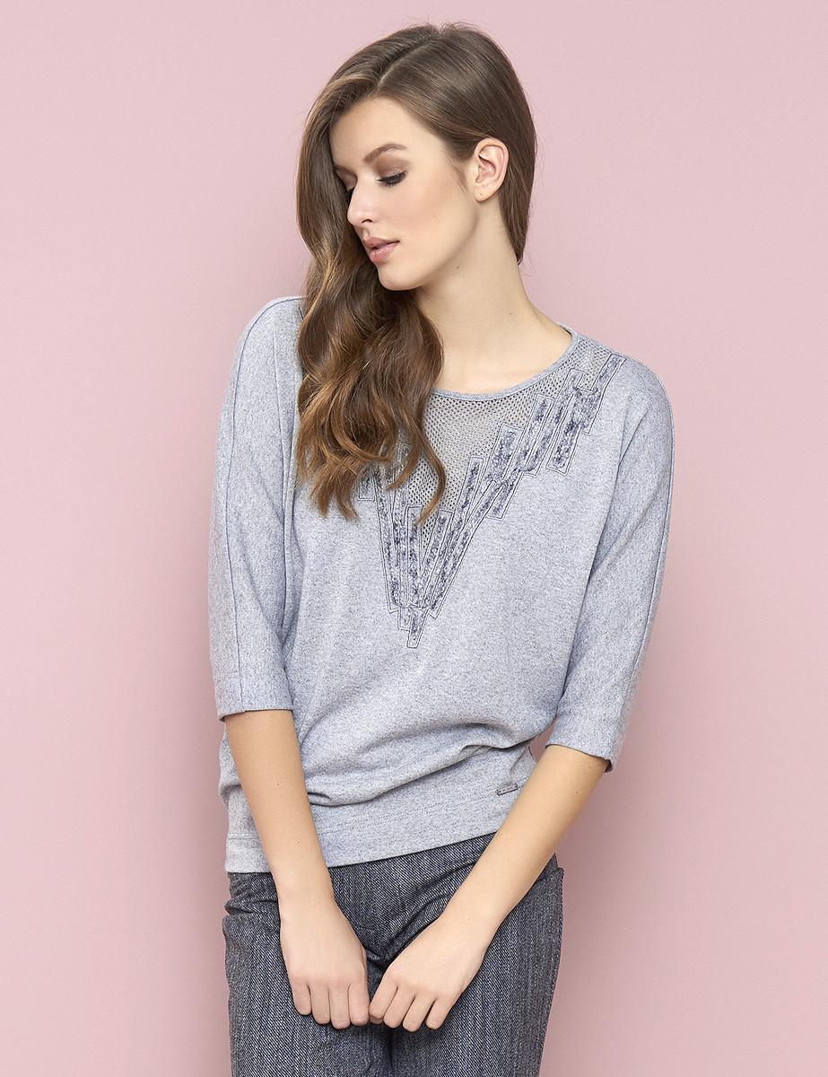Купить Женская кофта серого цвета Izabela Zaps, коллекция осень-зима ... e920415e139