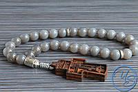 Православные четки из агата с резным крестом