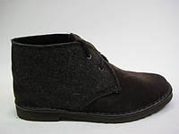 Замшевые женские ботинки коричневого цвета ТМ Inblu