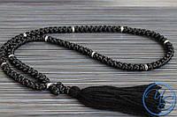 Вервица. Православные четки 100 узелков черные