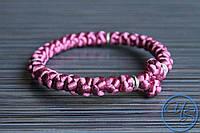 Вервица. Православные четки-браслет 30 узелков розовые