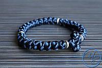 Вервица. Православные четки-браслет 30 узелков темно-синие
