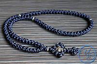 Брояница 100 узелков. Православные нательные четки темно-синие