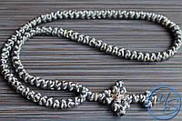Брояница 100 узелков. Православные нательные четки серые
