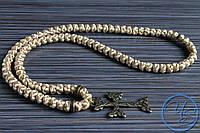 Брояница 100 узелков. Православные плетеные четки бежевые