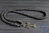 Брояница 100 узелков. Православные плетеные четки темно-серые
