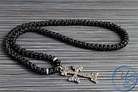 Брояница 100 узелков. Православные плетеные четки черные