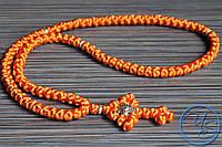 Брояница 100 узелков. Православные нательные четки оранжевые