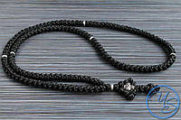 Брояница 150 узелков. Православные плетеные четки черные